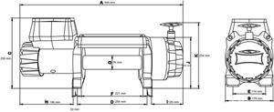 Troliu rapid Dragon Winch Highlander DWH 9000HD (trage 4082kg) - imagine 8