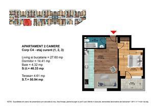 METROU LEONIDA - Apartament 2 camere open-space 51mp - PRIMA CASA - imagine 2
