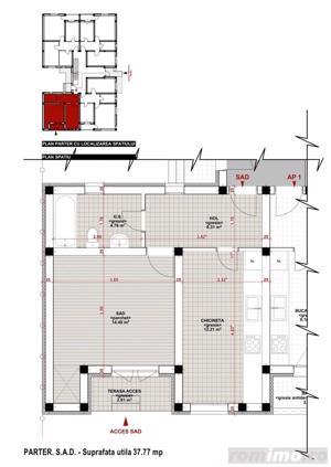 Giroc-Chisoda, apartament cu o camera, spatiu comercial - imagine 1