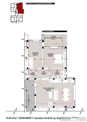 Giroc-Chisoda, apartament cu o camera, spatiu comercial - imagine 9