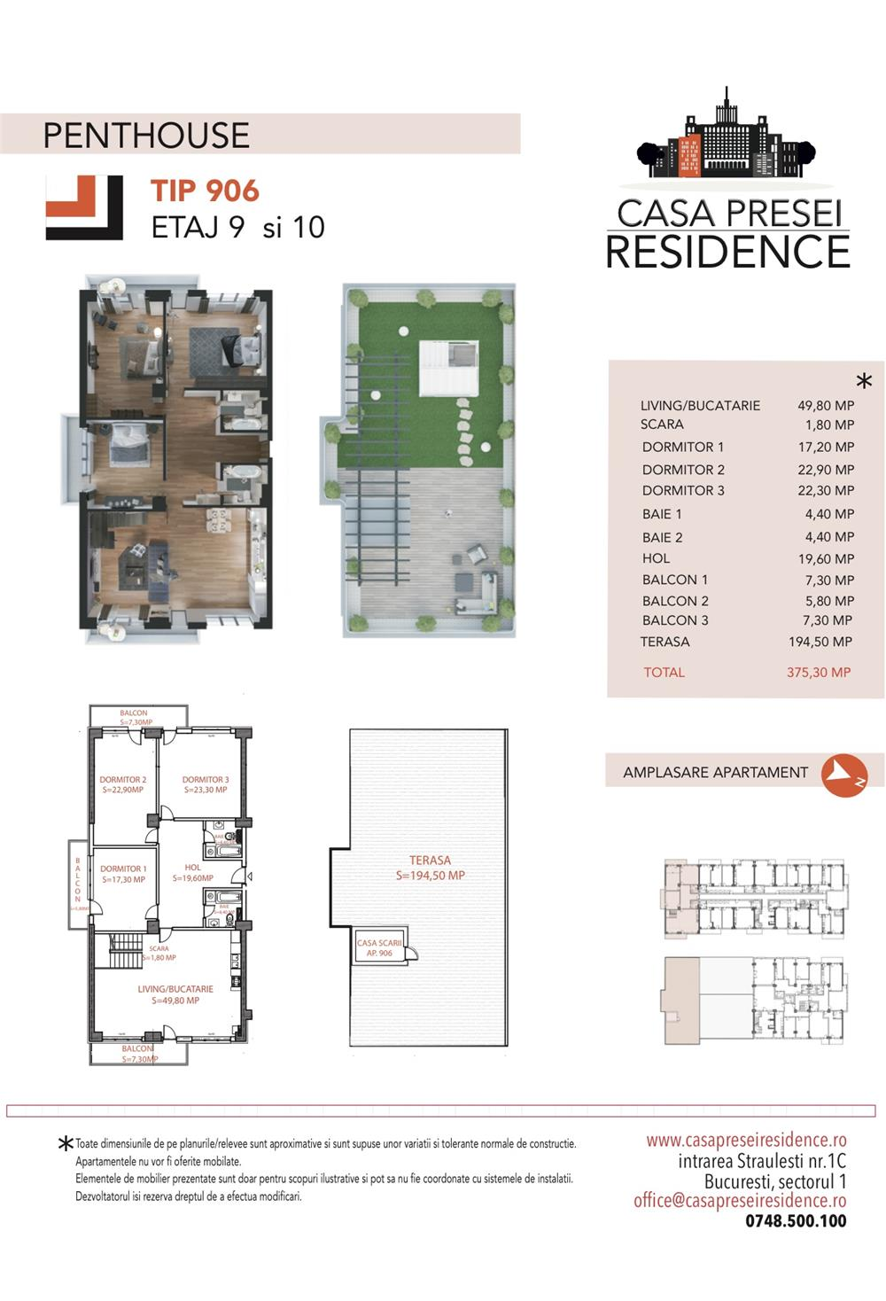 Penthouse deosebit Casa Presei Residence - imagine 2