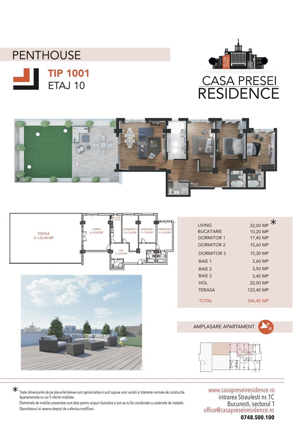 Penthouse deosebit Casa Presei Residence - imagine 6