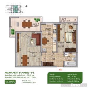 Apartament 2 camere, Pallady, Metrou Nicolae Teclu, Sector 3 - imagine 2