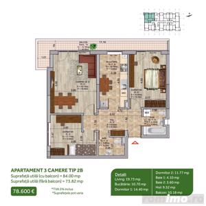 Apartament 3 camere, Pallady, Metrou Nicolae Teclu, Sector 3 - imagine 1