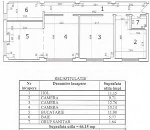 Apartament 3 camere, decomandat, Ion Mihalache, Chibrit, metrou, sector 1 - imagine 7