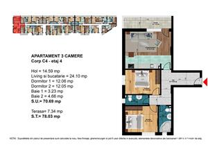 Dimitrie Leonida - Apartament 3 camere 78mp - Str. Biruintei - imagine 4