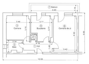 Vanzare apartament 2 camere, decomandat, zona Ultracentral - imagine 15