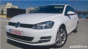 Golf 7 RAR EFECTUAT camera video, trapa panoramica electrica, piele, pornire fara cheie, clima, Led - imagine 1