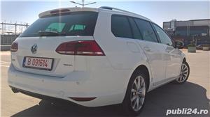 Golf 7 RAR EFECTUAT camera video, trapa panoramica electrica, piele, pornire fara cheie, clima, Led - imagine 2