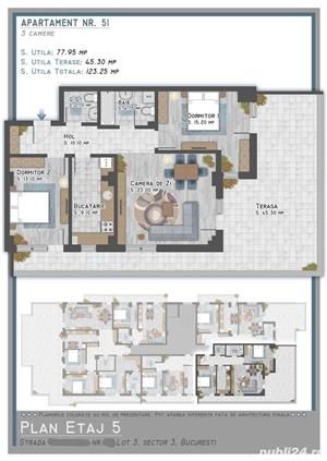 Apartament de 3 camere tip Penthouse situat  in zona Titan 1 Decembrie langa Auchan - imagine 4
