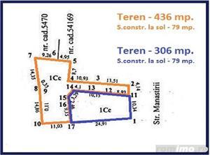 2 VILE P+E, Teren total-742 mp, interior la gri, str.Manastirii - imagine 6