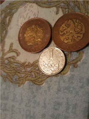 Monede coroane cehesti,euro,euro centi si alte monede.4€ - imagine 1