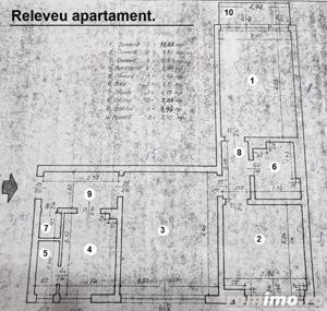 Apartament 58mp, 3 camere, semidecomandat in zona Stefan cel Mare. - imagine 7