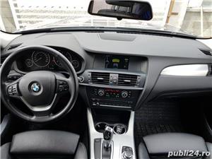 BMW X3 2.0d 184 CP xDrive Automat BiXenon FULL piele Navi LED - imagine 10