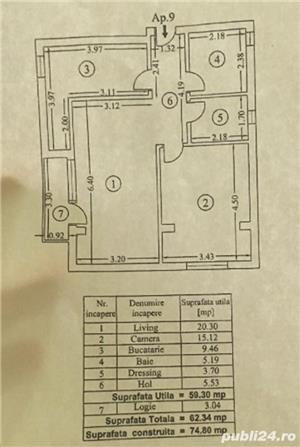 Apartament spatios, 2 camere, mobilat si utilat, Bucurestii noi, Parc Bazilescu, - imagine 9