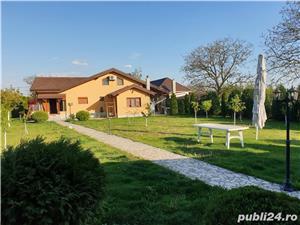 Vand vila P+M in Gepiu , 1300 teren , lux , filigorie , mobilata , sc 300 mp , termopane vitrate - imagine 1