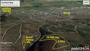 Teren Deva 26.000mp (2,6ha) strada Olarilor - imagine 8