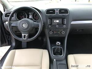 Volkswagen Golf VI / 1.6 TDi 105 CP / Navigatie RNS 510 / Tapiterie Piele Bej / Senzori de Parcare . - imagine 18