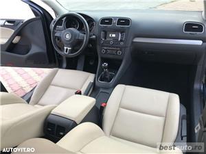 Volkswagen Golf VI / 1.6 TDi 105 CP / Navigatie RNS 510 / Tapiterie Piele Bej / Senzori de Parcare . - imagine 20