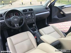 Volkswagen Golf VI / 1.6 TDi 105 CP / Navigatie RNS 510 / Tapiterie Piele Bej / Senzori de Parcare . - imagine 19