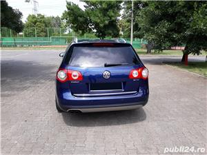 VW Volkswagen passat b6 2.0 tdi  140 cp  6 +1 viteze  highline piele- alcantara  - imagine 4