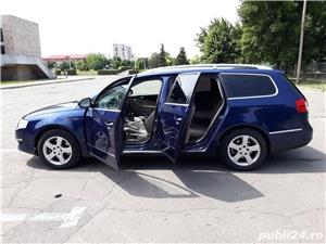 VW Volkswagen passat b6 2.0 tdi  140 cp  6 +1 viteze  highline piele- alcantara  - imagine 6