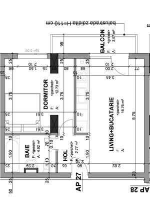 Proprietar - apartament 1 camera 37 mp+balcon in bloc nou str. Lidia - imagine 10