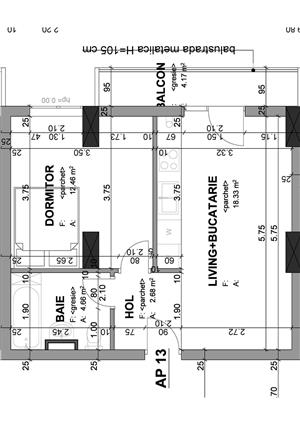 Proprietar - apartament 1 camera 37 mp+balcon in bloc nou str. Lidia - imagine 7