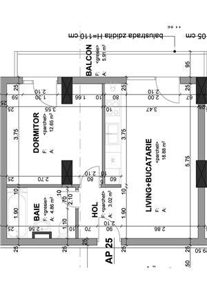 Proprietar - apartament 1 camera 37 mp+balcon in bloc nou str. Lidia - imagine 4