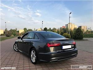 Audi A6 S-Line / 2.0 TDi 190 CP / Faruri Full Led / DayLight Neon / Navigatie Mare 3D.  - imagine 17