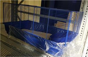 Cusca iepuri hamsteri guineea rozatoare plus roata si bila cu suport, cadou - imagine 1