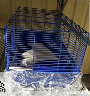 Cusca iepuri hamsteri guineea rozatoare plus roata si bila cu suport, cadou - imagine 4