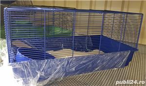 Cusca iepuri hamsteri guineea rozatoare plus roata si bila cu suport, cadou - imagine 2