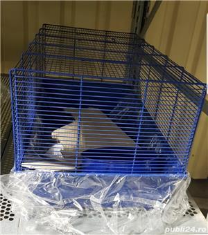 Cusca iepuri hamsteri guineea rozatoare plus roata si bila cu suport, cadou - imagine 5
