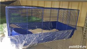 Cusca iepuri hamsteri guineea rozatoare plus roata si bila cu suport, cadou - imagine 6