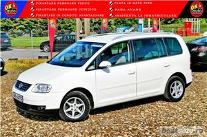 VW TOURAN - 1.6 BENZINA - 116 C.P. - CUTIE AUTOMATA - vanzare in RATE FIXE cu avans 0%. - imagine 1