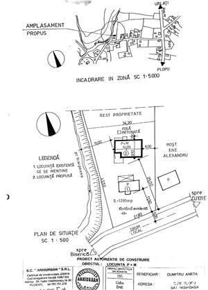 TEREN (parcelabil) și CASĂ în construcție. Comuna Plopu, Sat Nisipoasa, Prahova  - imagine 13