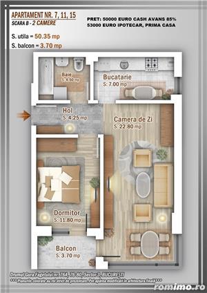 Apartament 2 Camere, 51 mp, Dezvoltator, Bucuresti sector 3, Pallady, Titan - imagine 14