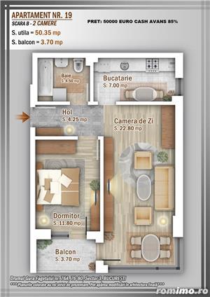 Apartament 2 Camere, 51 mp, Dezvoltator, Bucuresti sector 3, Pallady, Titan - imagine 15