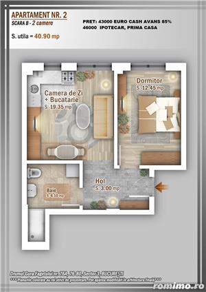 Apartament 2 Camere, 51 mp, Dezvoltator, Bucuresti sector 3, Pallady, Titan - imagine 11
