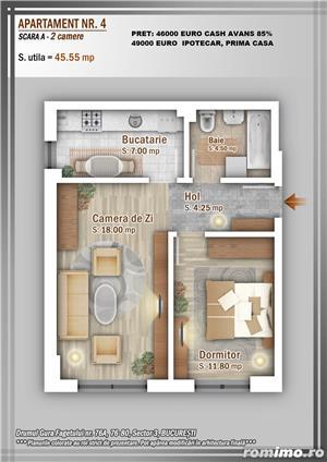 Apartament 2 Camere, 51 mp, Dezvoltator, Bucuresti sector 3, Pallady, Titan - imagine 12