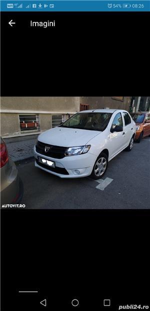 Dacia Logan 2014  4099 + TVA deductibil prim prop 89500 km AC Bluetooth geamuri el carte service - imagine 2