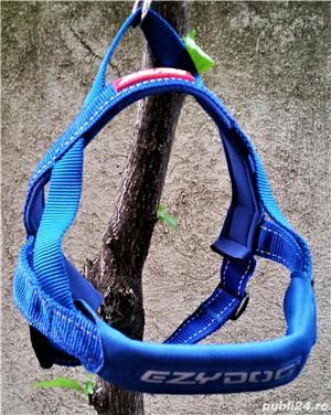 NOU HAM EzyDog QUICK FIT M caine talie medie 10-15kg bleu doar probat cu un mic defect de fabricatie - imagine 2