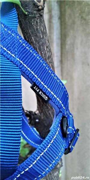 NOU HAM EzyDog QUICK FIT M caine talie medie 10-15kg bleu doar probat cu un mic defect de fabricatie - imagine 5