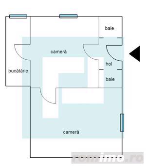 Apartament la casa cu 2 camere la PODGORIA - imagine 8
