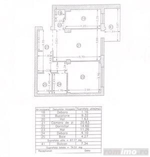 Apartament cu 2 camere, decomandat, zona Tomis Plus - imagine 3