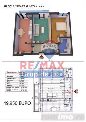 Noua ta locuinta | Apartament 2 camere 56mpu - COMISION 0% - imagine 2
