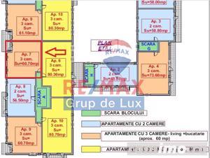 Apartament nou - 3 camere -  compartimentare ideală -  zonă liniştită ! - imagine 6