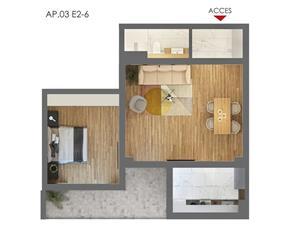 Proprietar-Vand-Apartament 2 camere-bloc nou 2019 (se va preda mobilat si utilat complet) - imagine 2