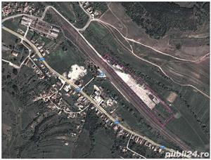 Teren si platforma betonata, cale ferata, Garbau, Jud Cluj - imagine 1